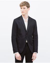 Zara   Blue Comfort Blazer for Men   Lyst
