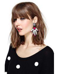 Nasty Gal - Multicolor Hands Off Earrings - Lyst