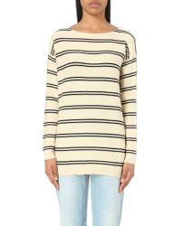 Closed | Natural Striped Cotton And Cashmere-blend Jumper | Lyst