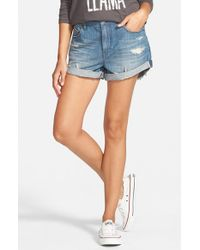 Volcom | Blue Boyfriend Denim Shorts | Lyst