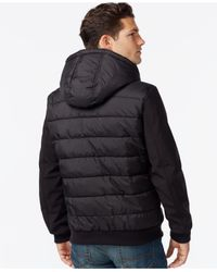 Lyst Tommy Hilfiger Softshell Puffer Jacket In Black For Men