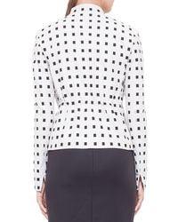 Akris Punto - White Square-Dotted Jacquard Jacket - Lyst