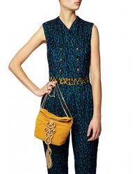 Matthew Williamson | Blue Rainbow Leopard Lace Jumpsuit | Lyst
