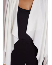 Missguided - Waterfall Blazer White - Lyst