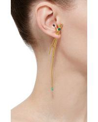 Paula Mendoza - Multicolor Emerald And Lapis Lazuli Earrings - Lyst