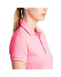 Ralph Lauren   Pink Mesh-panel Polo Shirt   Lyst
