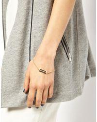 ASOS - Metallic Unknown Fine Bracelet - Lyst