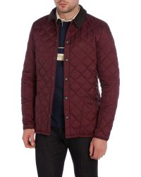 Barbour - Red Heritage Liddesdale Quilted Jacket for Men - Lyst