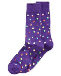 Hot Sox | Purple Confetti-dot Crew Socks for Men | Lyst