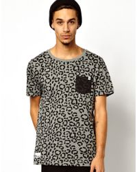 PUMA - Gray Tshirt Reissue Slipstream Leopard Print 1 Pocket for Men - Lyst