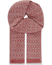 Maje | Brown Etan Patterned Wool Scarf | Lyst