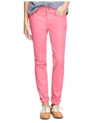 Brooks Brothers | Pink Natalie Fit Five-pocket Pants | Lyst