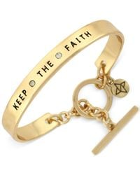 BCBGeneration | Metallic Gold-tone Keep The Faith Bangle Bracelet | Lyst