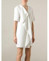 Alexander Wang | White Ruffled Mini Dress | Lyst