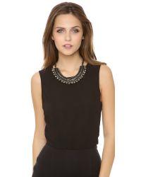 Deepa Gurnani - Metallic Short Collar Necklace - Lyst