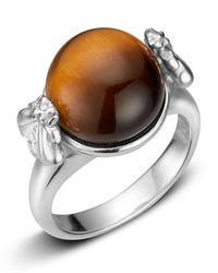 Slane | Metallic Tiger\'S Eye Bee Ring | Lyst