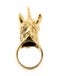 Leivan Kash | Metallic 'Unicorn' Ring | Lyst