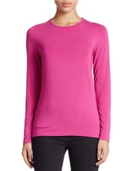 Lord & Taylor | Purple Crewneck Tee | Lyst