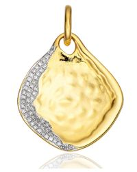 Monica Vinader | Metallic Large Gold Vermeil Diamond Shore Riva Pendant | Lyst