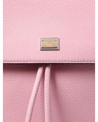 Dolce & Gabbana - Pink Sicily Grained Leather Backpack - Lyst
