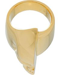 Undercover - Metallic Gold Half Skull Ring for Men - Lyst