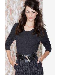 Nasty Gal | Gray Vintage Annalisa Crop Cashmere Sweater | Lyst