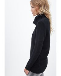 Forever 21 - Black Waffle Knit Turtleneck Sweater You've Been Added To The Waitlist - Lyst