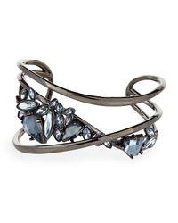 Alexis Bittar | Metallic Pyrite Cuff Bracelet W/ Rhinestones | Lyst