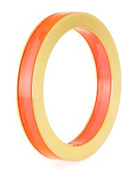 Stella McCartney - Orange Plexi & Metal Bangle - Lyst