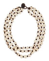 Eskandar - White 3-strand Necklace - Lyst