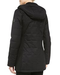 Canada Goose | Black Sable Quilted Zip Hoodie | Lyst