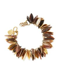 Ashley Pittman | Metallic Tanzu Light Horn Chain Leaf Bracelet | Lyst