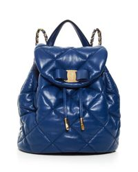 Ferragamo | Blue Backpack - Giuliette | Lyst