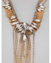 Erickson Beamon | Metallic Crystal Necklace | Lyst