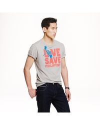 J.Crew | Gray For The Philippines T-shirt for Men | Lyst