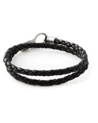 Tod's - Brown Braided Bracelet - Lyst