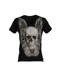 Philipp Plein - Black T-shirt for Men - Lyst