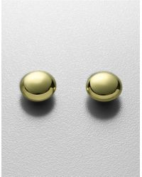 Lord & Taylor - Metallic 18kt Gold Plated Sterling Silver Puffed Button Stud Earrings - Lyst