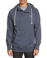 Volcom - Blue 'pulli' Henley Hoodie for Men - Lyst
