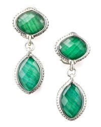 Lagos - Green Malachite Doublet Drop Earrings - Lyst