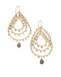 Saks Fifth Avenue | Metallic Labradorite Triple Teardrop Earrings | Lyst