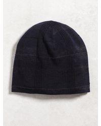 John Varvatos | Blue Silk Cashmere Knit Hat for Men | Lyst