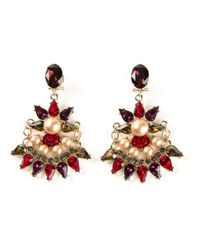 Anton Heunis | Red Crystal Embellished Earrings | Lyst