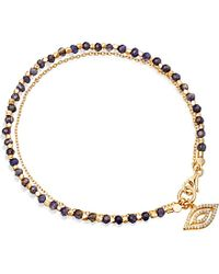 Astley Clarke - Blue Sapphire Evil Eye 14ct Gold, Sapphire And Diamond Bracelet - For Women - Lyst