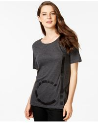Calvin Klein Jeans - Gray Logo Graphic Loose-fit T-shirt - Lyst