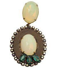 Nicole Romano | Metallic 'Lacerta' Oval Clip-On Earrings | Lyst