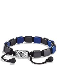 David Yurman - Black Spiritual Beads Five-station Tile Bracelet With Lapis Lazuli for Men - Lyst