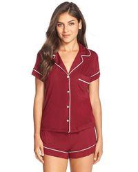 Eberjey | Pink 'gisele' Shorty Pajamas | Lyst