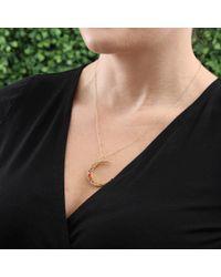 Andrea Fohrman | Metallic Large Luna Moon Necklace | Lyst