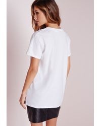 Missguided - Black Get It On Slogan T Shirt White - Lyst
